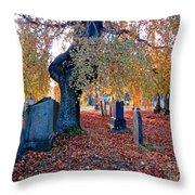 Beautiful Historic Camp Hill Cemetery Halifax Nova Scotia Throw Pillow