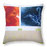 Beautiful In An Ugly World Throw Pillow