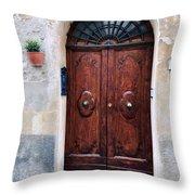 Viaje Beautiful Italian Door Volterre  Throw Pillow