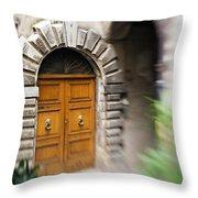 Beautiful Italian Doorway Throw Pillow
