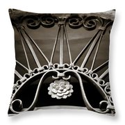 Beautiful Italian Metal Scroll Work 2 Throw Pillow