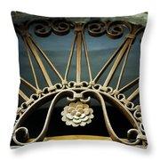 Beautiful Italian Metal Scroll Work Throw Pillow