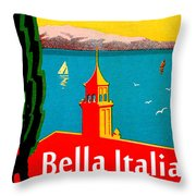 Beautiful Italy, Lake Garda, Riviera Throw Pillow