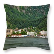 Beautiful Juneau Alaska Throw Pillow