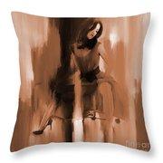Beautiful Lady 01 Throw Pillow