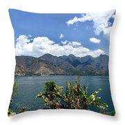 Beautiful Lake Atitlan Throw Pillow