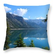 Beautiful Lake Minnewanka Throw Pillow