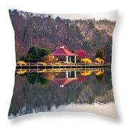 Beautiful Landscape Near Lake Lure North Carolina Throw Pillow
