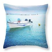 Greek Islands Throw Pillow