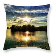 Beautiful Light Of The Golden Hour Throw Pillow