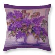 Beautiful Lilacs Throw Pillow