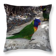 Beautiful Lorikeets Throw Pillow