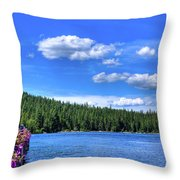 Beautiful Luby Bay On Priest Lake Throw Pillow