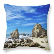 Beautiful Malibu Rocks Throw Pillow