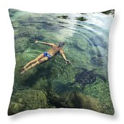 Beautiful Man And Turtle Throw Pillow