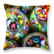 Beautiful Marble Collection Throw Pillow