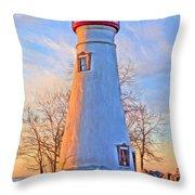 Beautiful Marblehead Lighthouse Throw Pillow