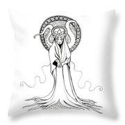 Beautiful Monster Throw Pillow