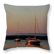 Beautiful Morning Provincetown Pier Throw Pillow