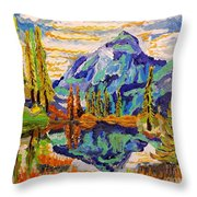 Beautiful Mountainous Reflection  Throw Pillow