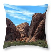 Beautiful Nature Landscape Valley Of Fire  Throw Pillow