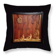 Beautiful Night Artwork With Wooden Waste Throw Pillow