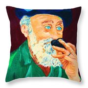 Beautiful Old Blue Eyes Throw Pillow