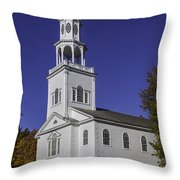 Beautiful Old First Church Throw Pillow