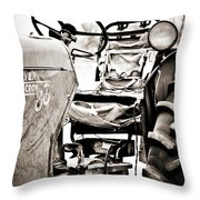 Beautiful Oliver Row Crop Old Tractor Throw Pillow