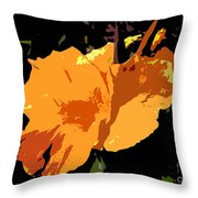 Beautiful Orange Work Number 19 Throw Pillow