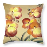 Beautiful Orchid Flowers Throw Pillow