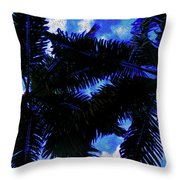 Beautiful Palm In Blue Sky Throw Pillow