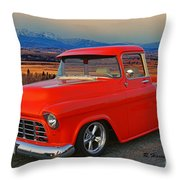 Beautiful Pick Up Truck Throw Pillow