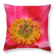 Beautiful Pink Peony Flower Vertical Throw Pillow