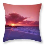 Beautiful Pink Sunset Throw Pillow