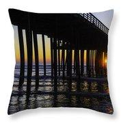 Beautiful Pismo Beach Sunset Throw Pillow