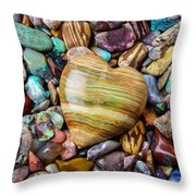Beautiful Polished Colorful Stones Throw Pillow