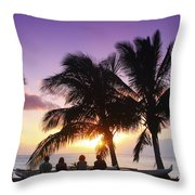 Beautiful Purple Sunset Throw Pillow