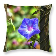 Beautiful Railroad Vine Flower Throw Pillow