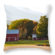 Beautiful Red Barn 3 Throw Pillow