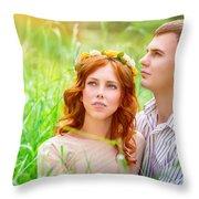 Beautiful Romantic Couple Throw Pillow