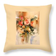 Beautiful Roses Throw Pillow