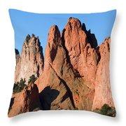 Beautiful Sandstone Spires In Garden Of The Gods Park Throw Pillow
