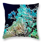 Beautiful Sea Fan Coral 1 Throw Pillow by Lanjee Chee