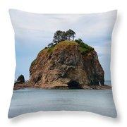 Beautiful Sea Stack Washington Coast Throw Pillow