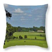Beautiful Sky Above The Farm Throw Pillow