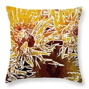 Beautiful Soft Coral Flowers Underwater 1 Throw Pillow by Lanjee Chee