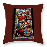 Beautiful Stained Glass At Emmanuel Church Baltimore # 5 Throw Pillow