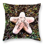 Beautiful Starfish In The Coral Reef Throw Pillow