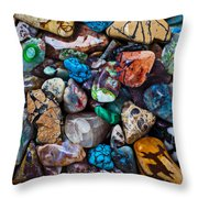 Beautiful Stones Throw Pillow by Garry Gay